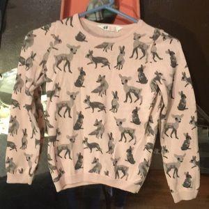 Kids 8-10Y fox deer bunny HM lightweight sweater